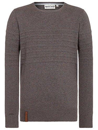 Naketano Male Knit Schmiergelvampir IV fancy dark grey melange