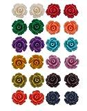 Nisa Pearls Earrings combo of Floral Chu...