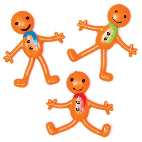 Stretchy Gingerbread Men - Perfect Christmas Stocking Filler for Children & Small Gift Idea (Pack of 6)