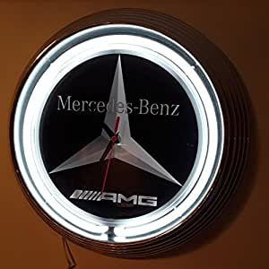 neonuhr neon clock durchmesser 38 cm mercedes benz. Black Bedroom Furniture Sets. Home Design Ideas