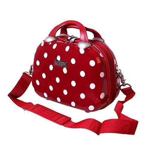 KARRY Karry Hartschalen Kosmetikkoffer Handgepäck Beauty Case Schminkkoffer Beautycase Schmuckkoffer Kosmetiktasche (Rot)