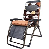 Sofa chair ZHIRONG Sun Lounger Reclining Recliner Chairs Outdoor Garden Patio Relaxer with Cushion (Color : A)