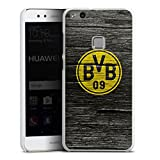DeinDesign Huawei P10 lite Hülle Case Handyhülle Borussia Dortmund BVB Holzoptik