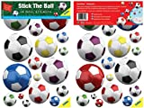 FunToSee Stick The Ball, Football Room Stickers, Pack of 36