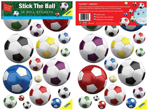 FunToSee Stick The Ball  Football Room Stickers  Pack of 36