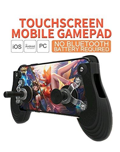 Mobile Joystick Controller Mini Größe Pro Touch Bildschirm, Grip Case für Smartphones für iOS Android Handy mit ergonomischem Design