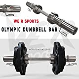 We R Sports® 5,1 cm Olimpico Manubrio Bar Set con Primavera Collare manubri Pesi bilanciere Palestra