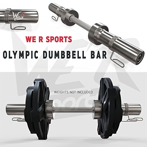 We R Sports® 5,1cm Olimpico Manubrio Bar Set con Primavera Collare manubri Pesi bilanciere Palestra