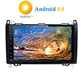 XISEDO Android 8.0 Autoradio In-Dash 9 Zoll Car Radio 8-Core RAM 4G ROM 32G Autonavigation Car Radio mit 1024 * 600 Touch Screen für Mercedes-Benz A-W169, B-W245, Viano, Vito, Sprinter (Autoradio)