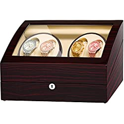 JQUEEN 4 Automatic Watch Winder and Storage Case0600089968798