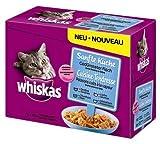 4 x Whiskas Pouch Multipack Sanfte Küche mit gedünstetem Fisch 12x85g