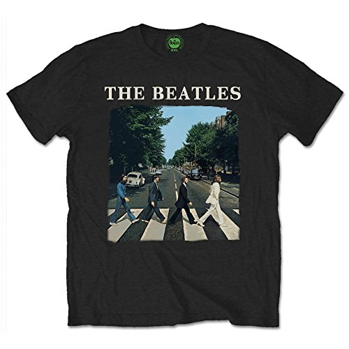 The Beatles Abbey Road John Lennon Rock offiziell Männer T-Shirt Herren (X-Large)