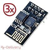 AZDelivery ⭐⭐⭐⭐⭐ 3 x esp8266 ESP-01S WLAN WiFi Modul für Arduino und Raspberry Pi mit gratis eBook!