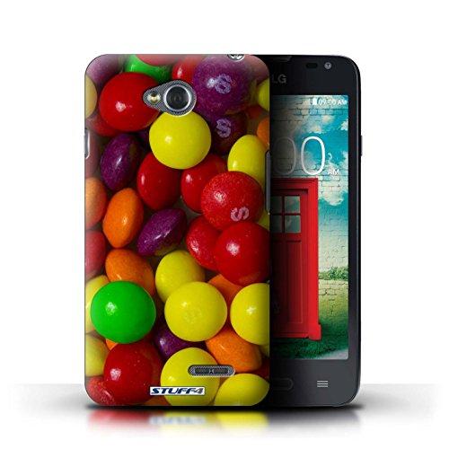 Kobalt® Imprimé Etui / Coque pour LG L65/D280 / Smarties conception / Série Bonbons Skittles