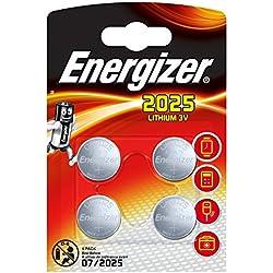 Energizer E300849102 Pack de 4 Piles Bouton au Lithium Argent