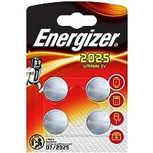 Energizer Recargable de litio de 3V CR2025(Pack de 4)