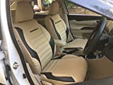 #2: Autofact PU Leather Car Seat Covers for Maruti Ciaz in Beige and Black Color