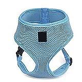 UEETEK Hundehalsband Kabelbaum Katze Haustier sichere Steuerung Gurt Weste Sicherheitsleine für Hunde - Größe L (blau)