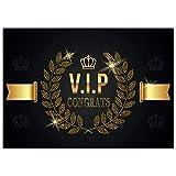 A4 XXL Glückwunschkarte V.I.P. CONGRATS mit Umschlag - edle VIP Klappkarte für alle Anlässe wie Geburtstag Hochzeit Jubiläum Karte von BREITENWERK