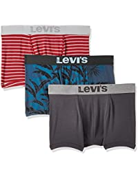 Levi's Men's Printed Cotton Trunks (Pack of 3) (Colors May Vary)