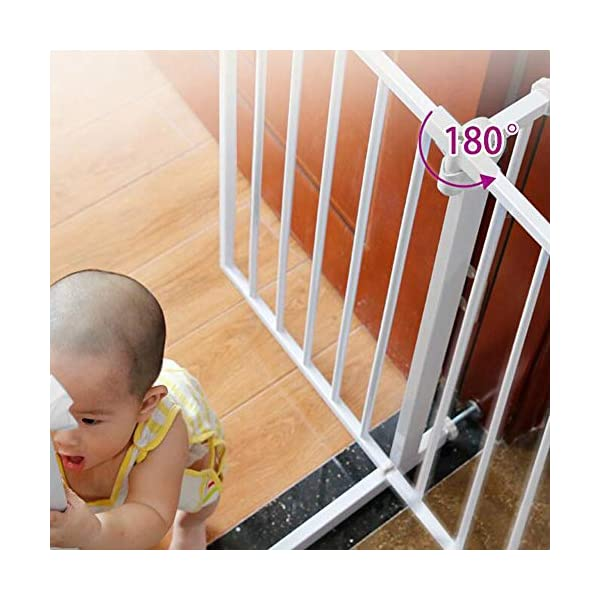 Baby child safety gate bar baby stairway fence pet fence dog fence pole isolation door(74-84cm) AA-SS-Safety Door ✿Adaptable :Convenient walk through design with safety locking feature. ✿Easy one-hand open handle:The gates convenient design allows adults to walk through by simply sliding the safety lock back and lifting. ✿Easy to use: Pressure mount design that is quick to set up. No tools required and is gentle on walls. 9