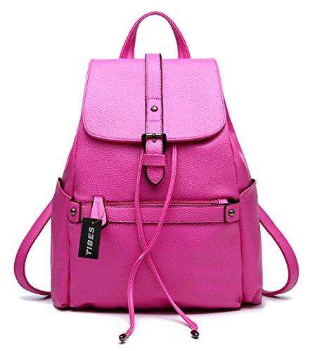 Tibes Zaino Borsello Donna Zaino Per Scuola Borsa Zaino Backpack Rosa Rosa