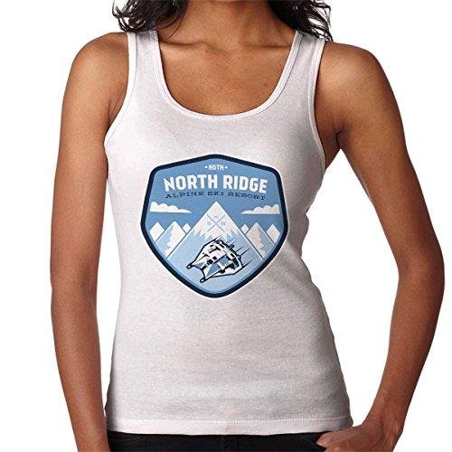 Hoth North Ridge Alpine Ski Resort Star Wars Women's Vest White