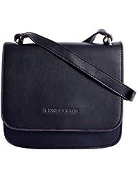 Lino Perros Women's Sling Bag (Black) - B07GL4QZD8