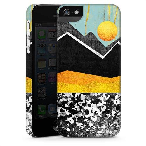 Apple iPhone 4 Housse Étui Silicone Coque Protection Montagnes Ciel Soleil CasStandup blanc