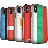STUFF4 Matte Harten Stoßfest Hülle / Case für Apple iPhone X/10 / Pack 14pcs / Europa Flagge Kollektion
