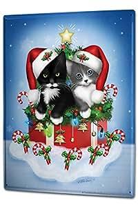 Cartello Targa in Metallo XXL Nostalgico razione Di Nat Ale gatto cappello della Santa Regalo