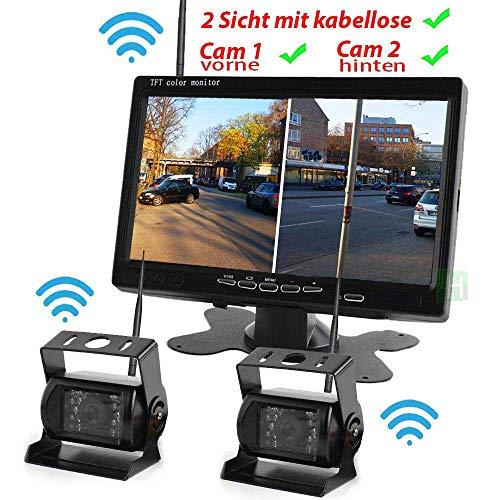a inkl. Monitor - Bis zu 5 Jahre Garantie für LKW, Bus & Transporter. Heck Hinten & Vorne, Kabelloser Drahtlose Funk - Truck Van Rear View Camera Kamera ()