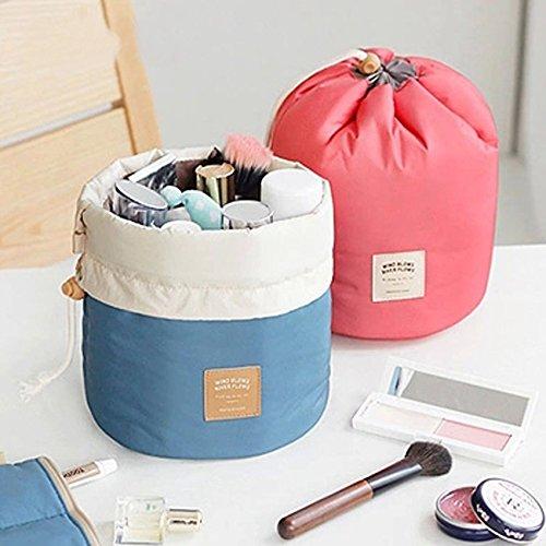 Tiptiper Borsa cosmetica pieghevole di trucco di viaggio Stoccaggio leggero impermeabile dello stile della benna blue