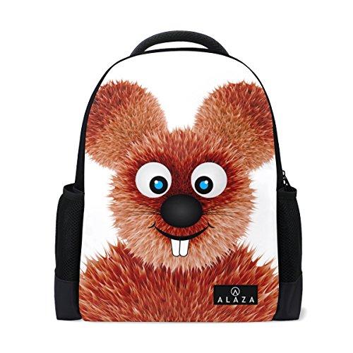My Daily Smiling Ratte Cartoon Rucksack 35,6cm Laptop Daypack Schultasche für Reisen College Schule