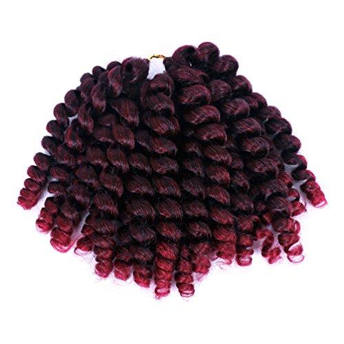 Furice short wand curl crochet trecce extension spiral bouncy jumpy crochet capelli afro tagli piccoli ricci africano extension per capelli in fibra di kanekalon 20fili/pc (20,3cm, colore sfumato)