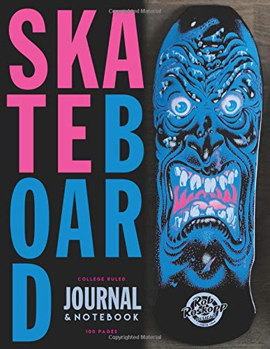 Skateboard: 80's Skateboard  deck  appreciation  journal / notebook to write in and record your thoughts.