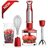 XProject 800W 4-in-1 Hand Blender with 6 Speeds Powerful Immersion Hand Blender for Smoothies Baby Food Yogurt Sauces Soups
