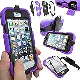Coque Protection Robuste Usage Survivant Antichoc Robuste pour iPhone 3 3G 3GS - Mauve, Apple iPhone 5S / 5