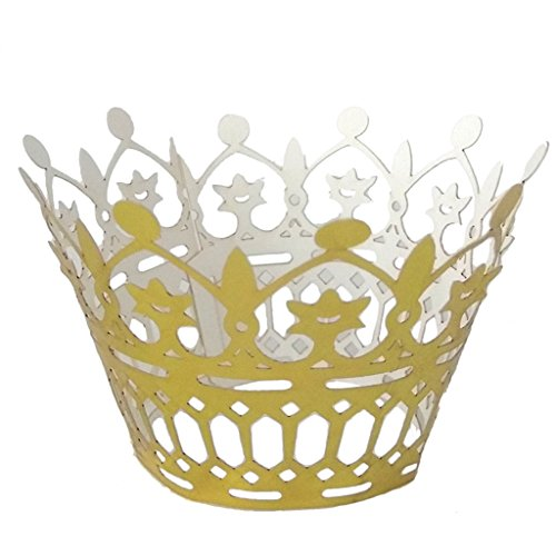 50Pcs Krone Cupcake Wrappers Muffins Wraps Kuchen Halter Verpackung - Gold, 13 # - Wrap-halter Papier