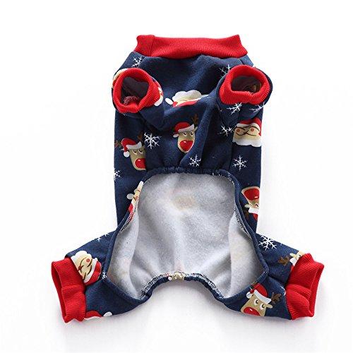 Schöne Menschen Kleidung (sunwords Lovely Weihnachten Santa Schneeflocke Hunde Thermal Schlafanzüge Haustier Kleidung Coat Jumpsuit)
