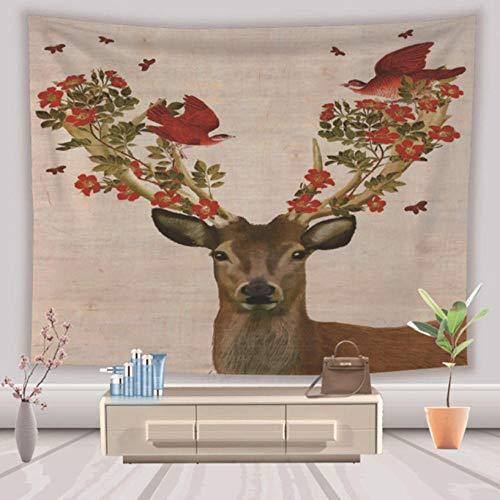 3D elch Tapisserie Wand Zeug Tier rentierdruck Tapisserie wohnkultur Schlafzimmer blanket200 * 150 cm (Tier Zeug)