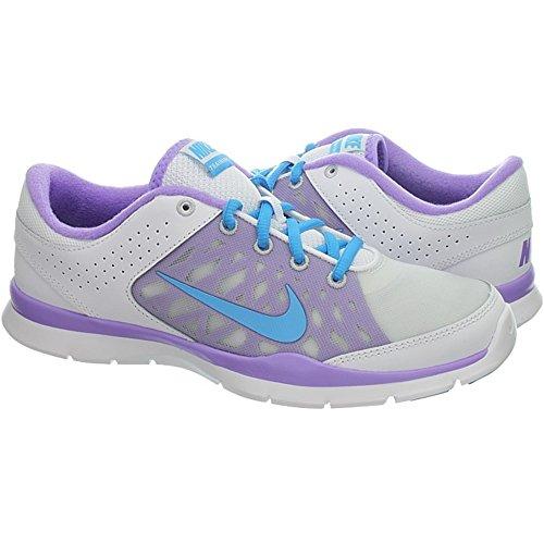 Nike NIKE FLEX Trainer 3 580374 104 white/vvd blue-atomic vlt-lt bs grey, Scarpe da corsa donna grigio azzurro-viola