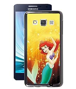 Fuson 2D Printed Princesses Mermaid Designer Back Case Cover for Samsung Galaxy A3 - D955