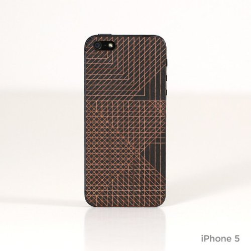 Lazerwood 22182 Andy Gilmore Cell Divisions Holz Cover für Apple iPhone 5/5S inkl. Displayschutzfolie schwarz (Holz Seattle)