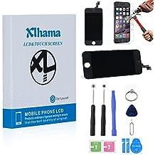 Xlhama Pantalla Táctil LCD Reemplazo para iphone 5S contiene herramientas+película de vidrio templado+instrucciones-Negro