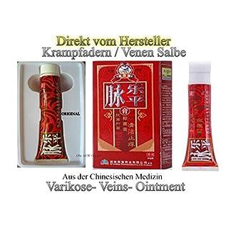 Krampfadern Salbe- Varikose- Veins- Ointment gegen schwere Beine, Besenreiser und Krampfader- mit Certifikat