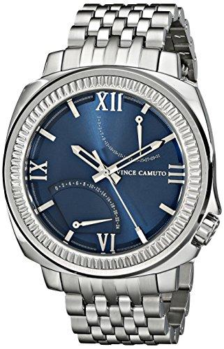 Vince Camuto VC/1002NVSV - Orologio da polso unisex, cinturino in acciaio inox colore argento
