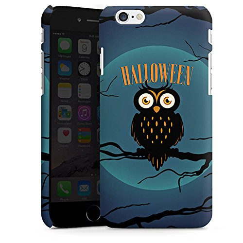 Apple iPhone X Silikon Hülle Case Schutzhülle Halloween Eule Nacht Premium Case matt