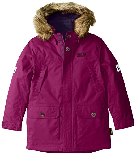 Jack Wolfskin Girls Calgary Parka - Mallow Purple - 92 - Wasserdichter warmer Mädchen Winterparka