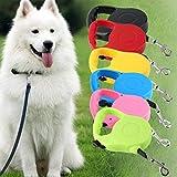 Banbie8409 Nylon und Kunststoff 3M / 5M lang einziehbare Hunde Pet Lead für Führleine Erweiterbar (Farbe: blau, schwarz, rot, gelb, grün, pi)